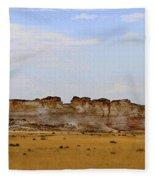 Monument Rocks In Western Kansas Fleece Blanket
