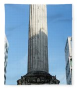 Monument To The Great Fire Of London Fleece Blanket