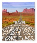 Monument Valley Fleece Blanket