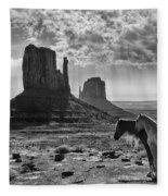 Monument Valley Horses Fleece Blanket