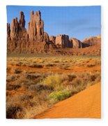 Monument Valley,arizona Fleece Blanket