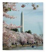 Monumental Cherry Blossoms Fleece Blanket