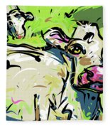 Moo Fleece Blanket