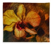 Mood Of The Orchid Fleece Blanket
