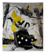 Moods Yellow Let It All Hang Out Fleece Blanket