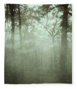 Moody Foggy Forest Fleece Blanket
