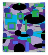 Moody Purple Fleece Blanket