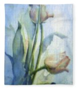 Moody Tulips Fleece Blanket