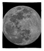 Moon 98 Percent Fleece Blanket