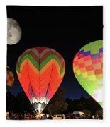 Moon And Balloons Fleece Blanket