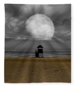 Moon Beams Fleece Blanket