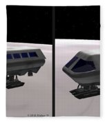 Moon Bus - Gently Cross Your Eyes And Focus On The Middle Image Fleece Blanket