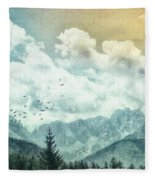 Moon By Day Fleece Blanket