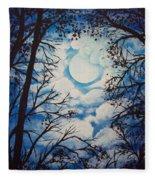 Moon Clouds Fleece Blanket