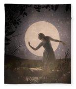 Moon Dance 001 Fleece Blanket