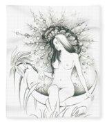 Moon Dew Fleece Blanket