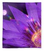 Moon Flower Fleece Blanket