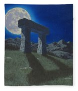 Moon Gate Fleece Blanket