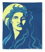 Moon Girl Fleece Blanket