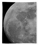 Moon In B And W Fleece Blanket