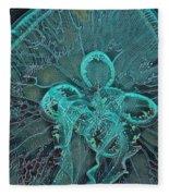 Moon Jellyfish Art Fleece Blanket