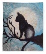 Moon Kitty Fleece Blanket