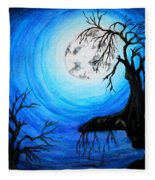 Moon Lit Fleece Blanket
