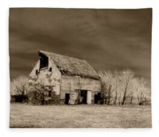 Moon Lit Sepia Fleece Blanket