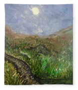 Moon Musings Fleece Blanket