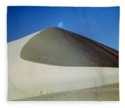 214804-moon Over Dune  Fleece Blanket