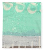 Moon Over The Sea Fleece Blanket
