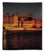 Moon Over Udaipur Fleece Blanket