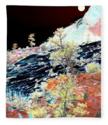 Moon Over Utah Fleece Blanket