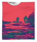 Moon Racers Fleece Blanket