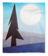 Moon Rings Fleece Blanket