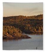 Moon Rise Over Pukaskwa Fleece Blanket