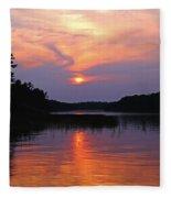 Moon River Silhouette Fleece Blanket