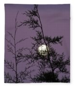 Moon Trees Fleece Blanket