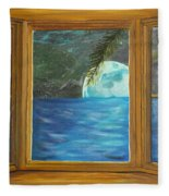 Moon Window Fleece Blanket