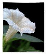 Moonflower - Rain Drops Fleece Blanket