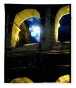 Moonlight At The Colosseum Fleece Blanket