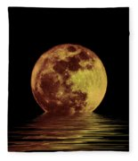 Moonlight On The Bay Fleece Blanket