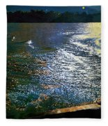 Moonlight On The Mississippi Fleece Blanket