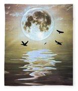 Moonlight On Water Fleece Blanket