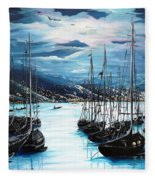 Moonlight Over Port Of Spain Fleece Blanket