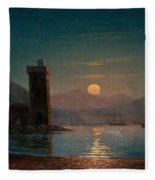 Moonlight Reflecting On Water Fleece Blanket