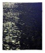 Moonlight Sparkles On The Sea Fleece Blanket