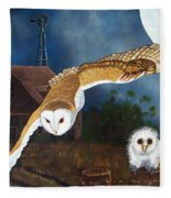 Moonlit Flight Fleece Blanket