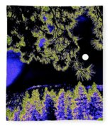 Moonlit High Country Fleece Blanket