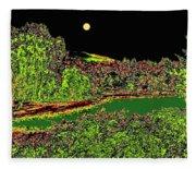 Moonlit Kaloya Park Fleece Blanket